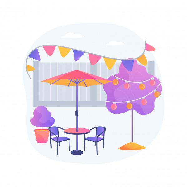 Hyr ett bord till din utomhusfest
